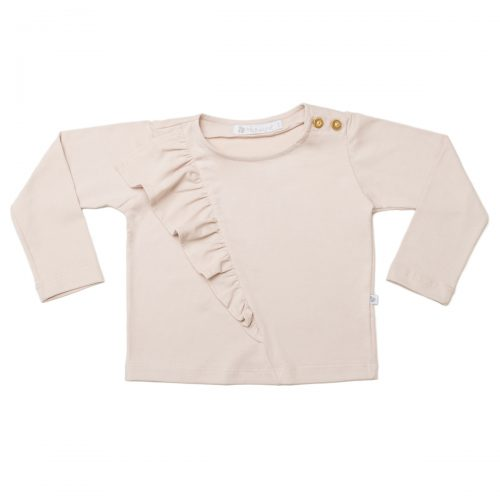 Blusa Babado Lateral ML Rosè